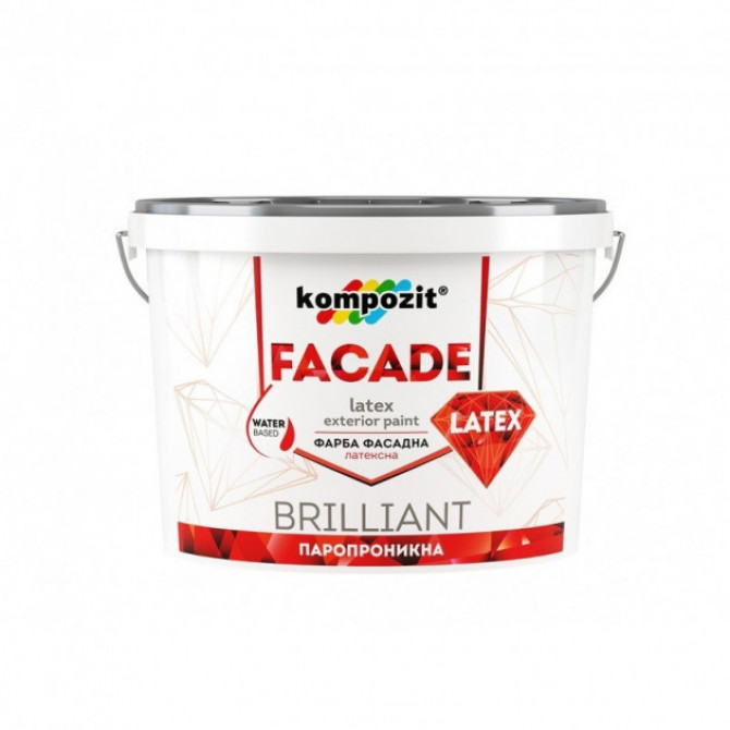 Kompozit Краска фасадная Facade Latex 1.4 кг (4820085742215)