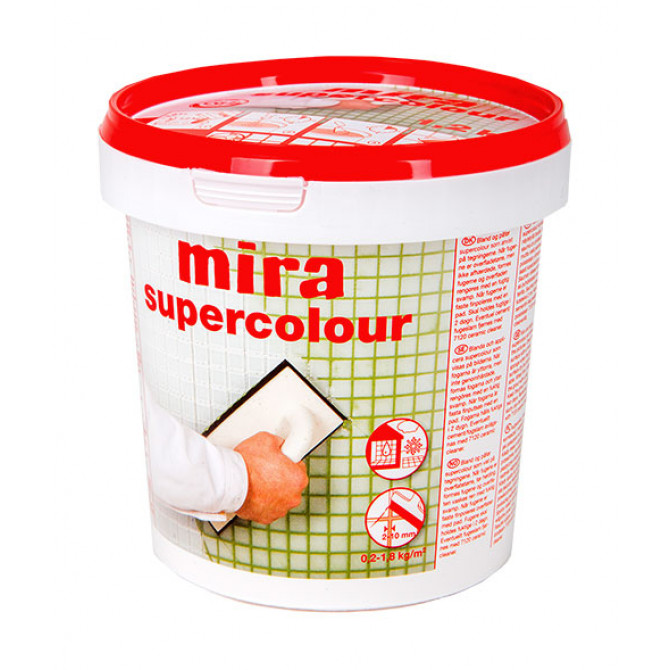 Mira supercolour затирка для швов 5 кг мокрый асфальт 123