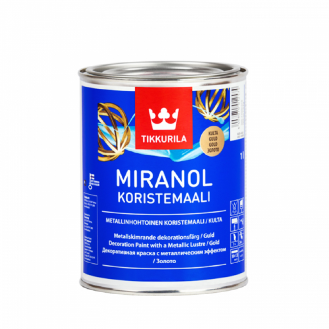 Декоративная краскаTikkurila Miranol Decorative, 1 л. Золото